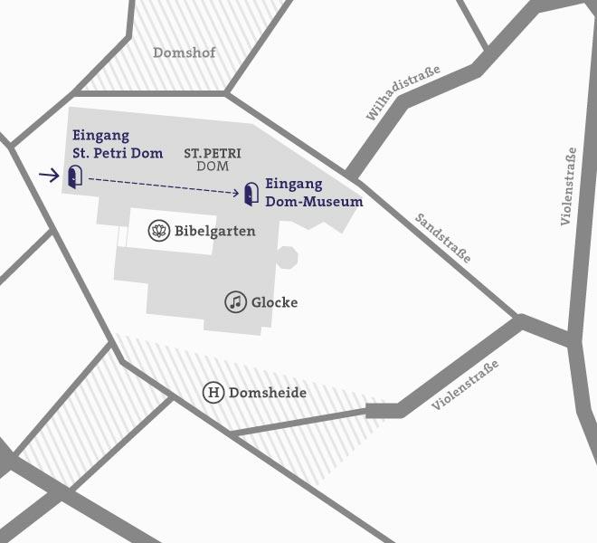 Karte: Anfahrt Dommuseum