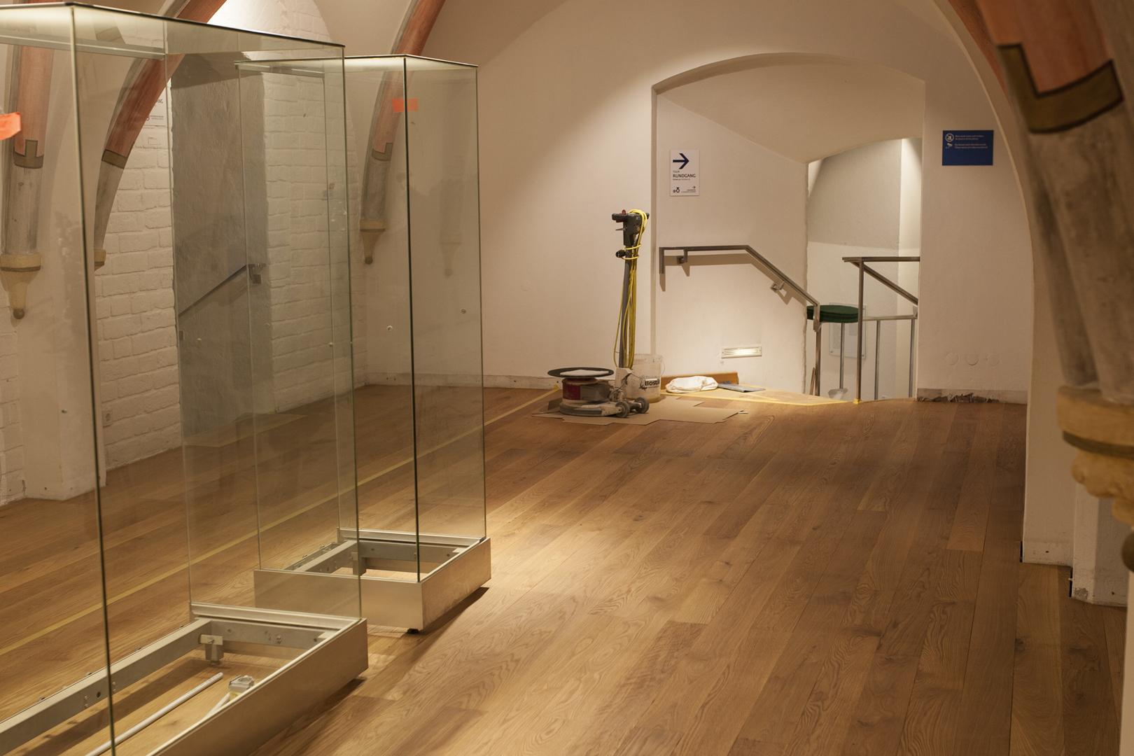 Bautagebuch: Überarbeitete Dauerausstellung, neuer Parkettboden